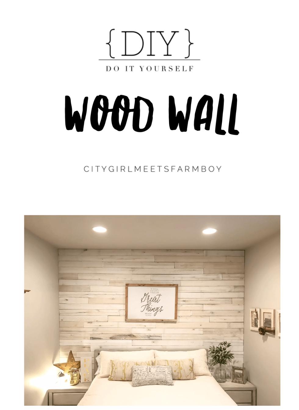 Do It Yourself Wood Wall Citymeetsfarmboy