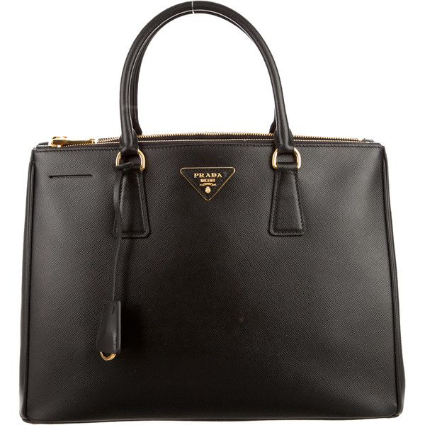 b565bf88df3cbe ... official pre owned prada medium saffiano lux double zip tote 1725 liked  on ebba9 839cb