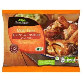 Asda Meat Free 6 Lincolnshire Sausages Meat Free Online Food