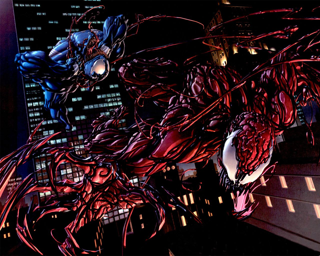 Carnage Venom Wallpaper 68097 Wallbase Cc Carnage Marvel Creative Graphics