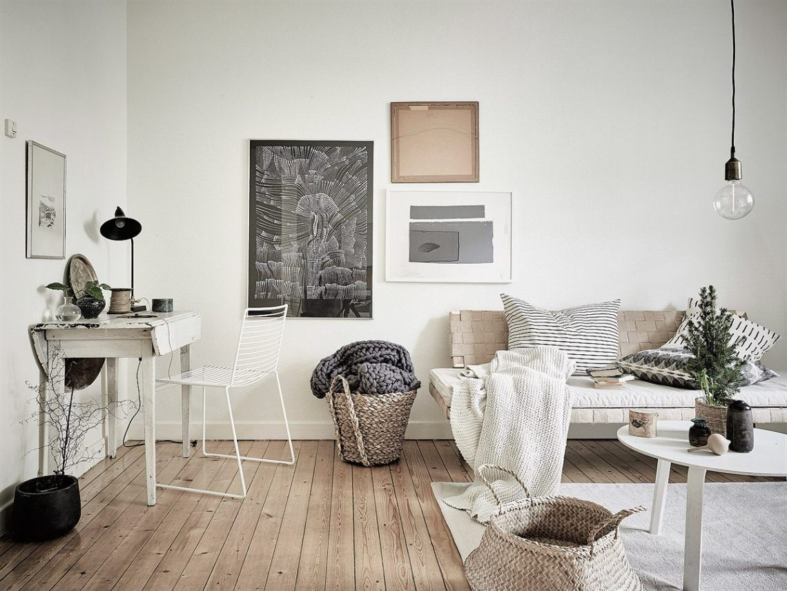 Neutral Colors And Greenery Via Cocolapinedesign Com