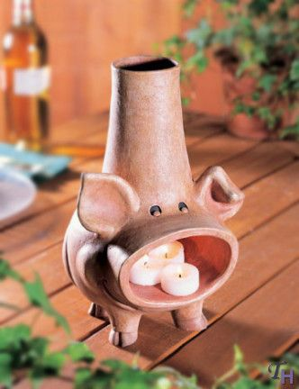 Pig Chiminea By Figi Chiminea Pig Decor Stone Art