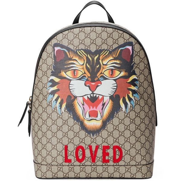 3966c0983b1 Gucci Angry Cat Print Gg Supreme Backpack ( 1