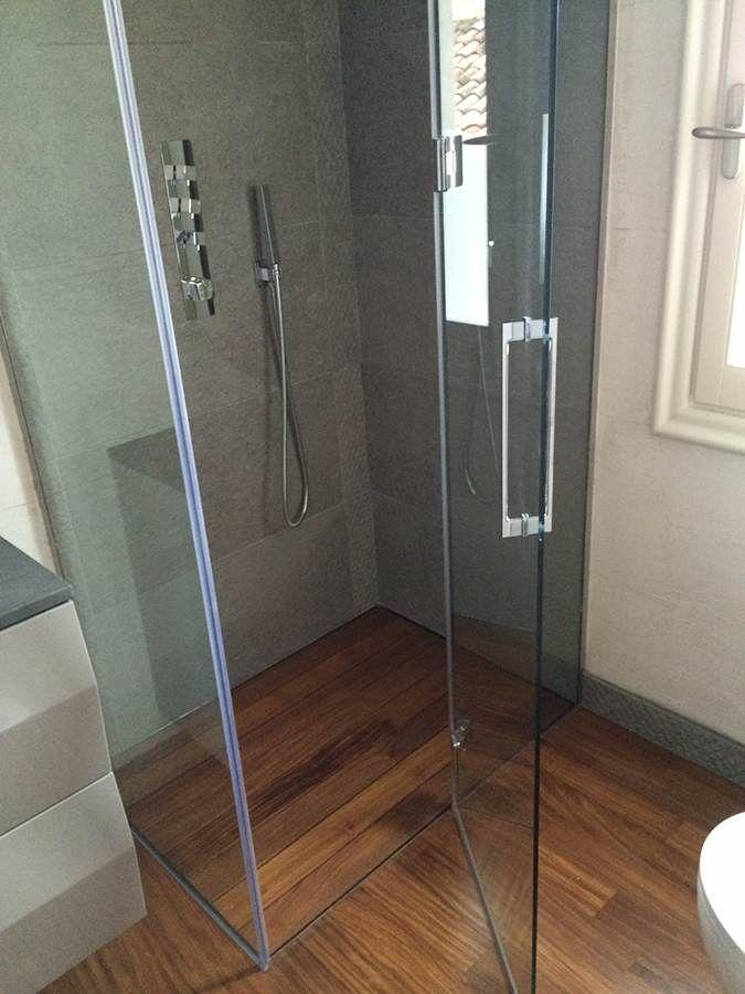 Pedana doccia in legno Teak moderno resistente ai danni