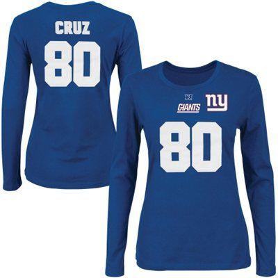 44b33fd5 Victor Cruz New York Giants Majestic Womens Fair Catch V Name and ...
