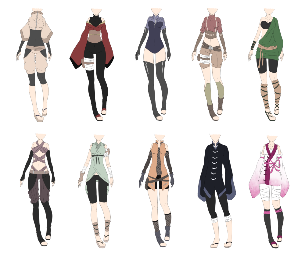 Anime Ninja Outfits Google Search Fantasy Clothing Anime Outfits Art Clothes