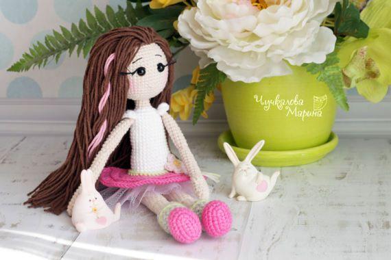 Thumbelina the doll PDF crochet pattern