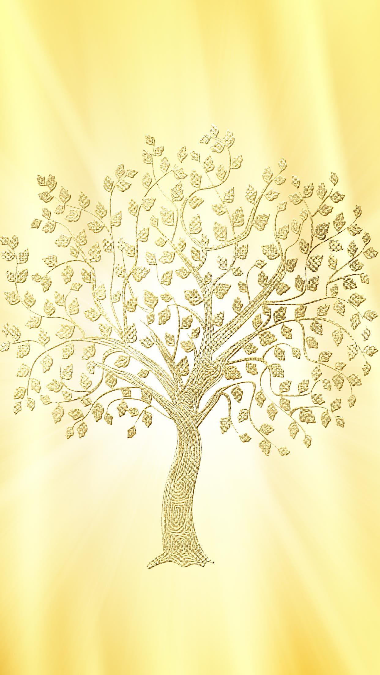 年後半 最強開運 強運画像 運気が上がるゴールデンツリーのおまじない画像 スマホ ラインの背景画像 壁紙 恋のおまじない 願いが叶うおまじない 魔術 占い 潜在意識 画像 壁紙 ゴールドの壁紙 金色 壁紙