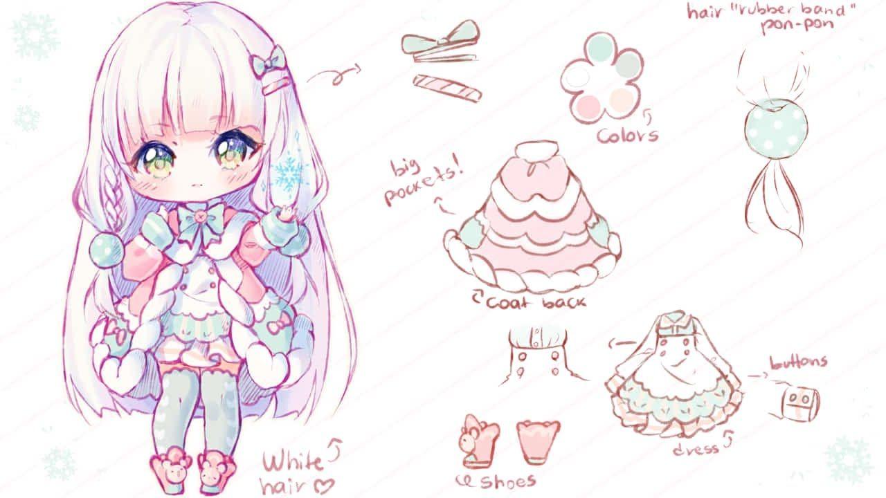 Speedpaint Ice Pastel Sketching Hyan Timelapse 119 Cute Anime Chibi Chibi Drawings Anime Chibi