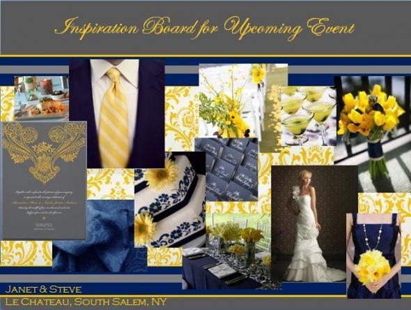 Emejing Yellow And Navy Wedding Contemporary - Styles & Ideas 2018 ...