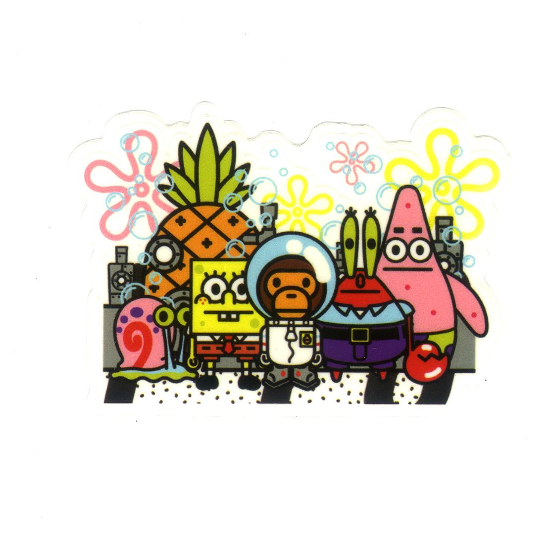 1229 Baby Milo X Spongebob And Friends 5 5 X 8 Cm Decal