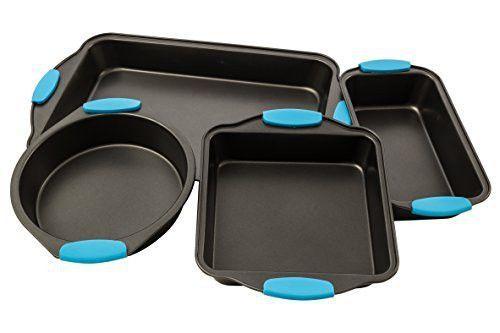 Bakeware Set Premium Nonstick Baking Pans Set Of 4 Ligh Blue