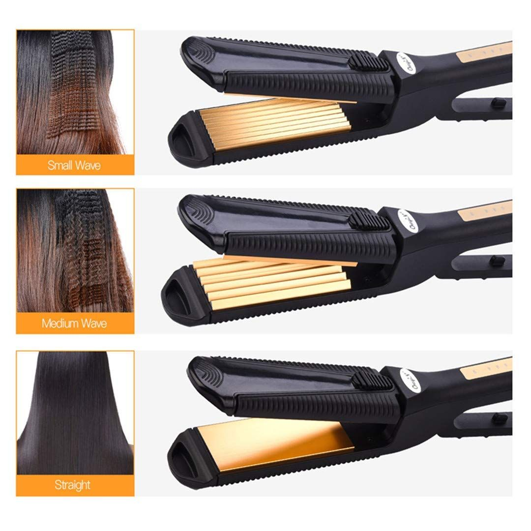 3 In 1 Styling Tool Hair Crimper Straightener Hair Corrugated Crimper Iron Curler Perm Corrugat Hair Pla Hair Crimper Hair Plates Hair Straighteners Flat Irons