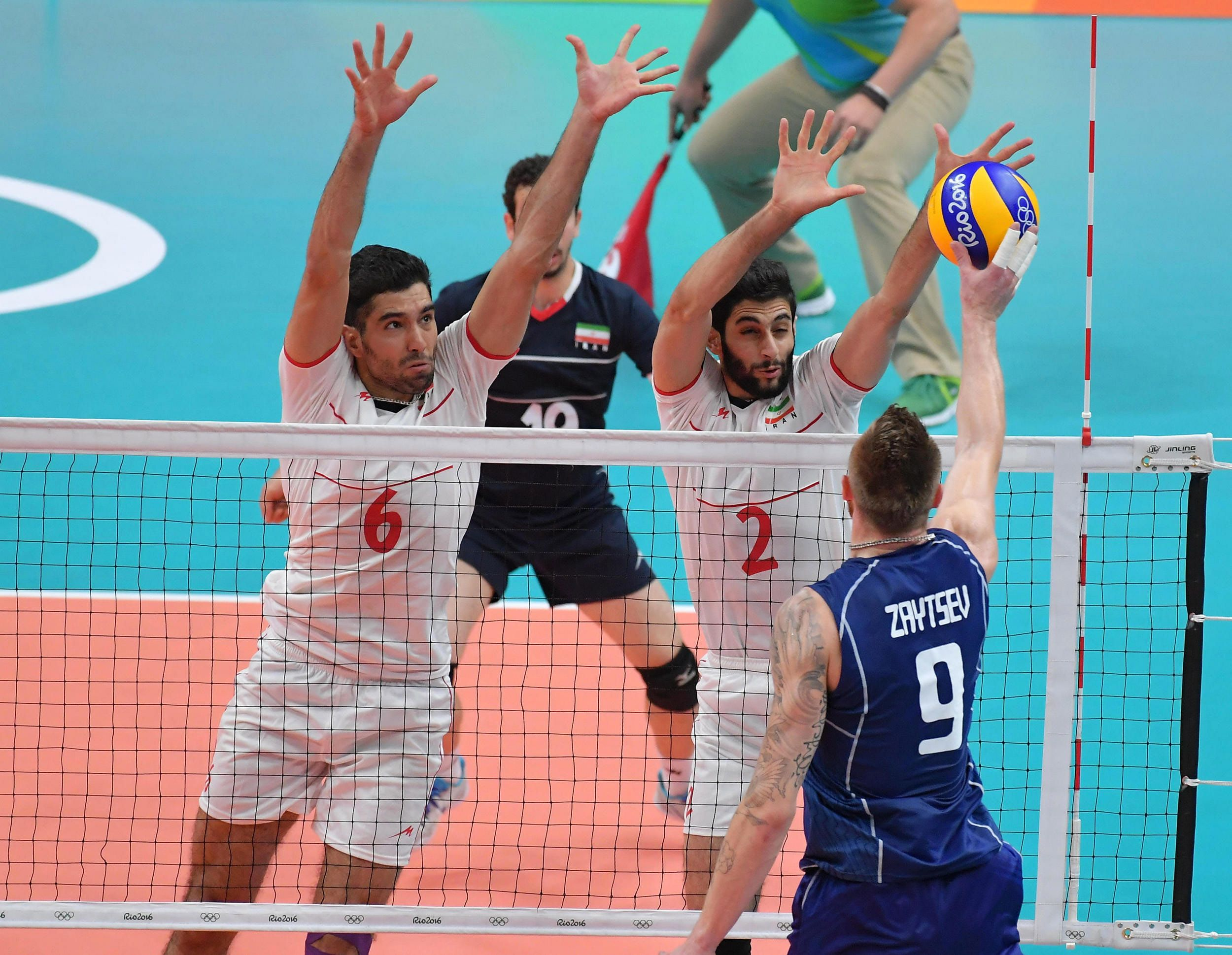 Ivan Zaytsev Spikes The Ball Against Iran In 2020 Volleyball Basketball Court Sports