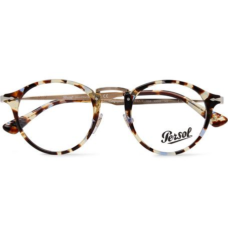 108612be106 Persol - Round-Frame Tortoiseshell Acetate and Gold-Tone Optical Glasses