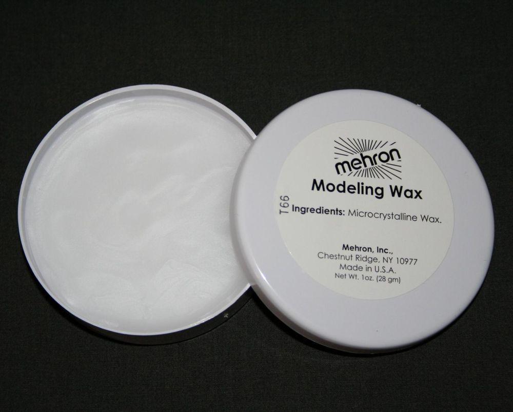 Modeling Wax Mehron Soft Theatrical Face Eyebrow Blocker Compound Clear Tv Fx Mehron Makeup This Special Effects Makeup Modeling Wax Is Mehron Eyebrows Wax