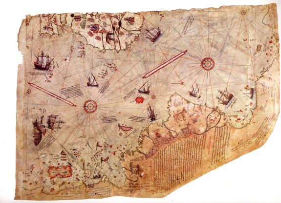 Piri Reis Map, High Resolution, Forbidden Archaeology | Man vs ...
