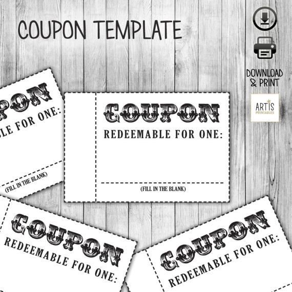 Blank Kid Coupon Template Chore List Ideas Pinterest - coupon template free printable