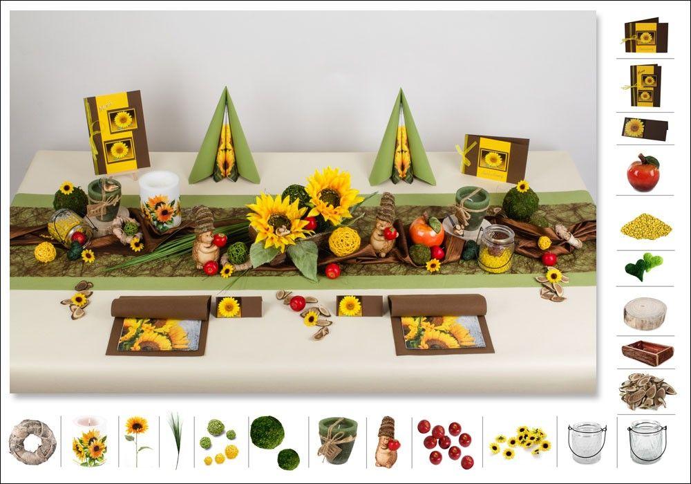 Tischdeko Geburtstag 8 In Grun Gelb Als Mustertisch Tafeldeko De