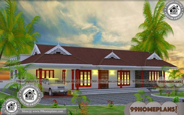 One Story House Floor Plans With 50 Traditional Kerala Style Home Plans One Storey House House Flooring Story House