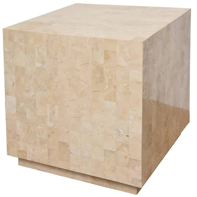 Pleasant Tessellated Stone Maitland Smith Cube Side Table And Or Art Download Free Architecture Designs Remcamadebymaigaardcom