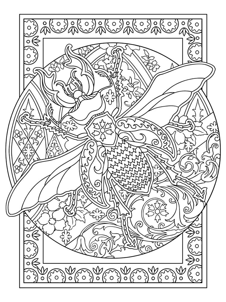 Coloring Book For Adults Bee Coloring Pages Designs Coloring Books Coloring Pages