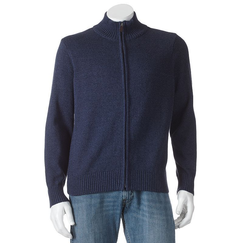Dockers men's Cardigan Sweater Cotton Zip Deep Night Marl size XL ...