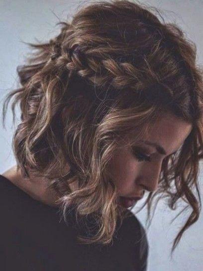 Media Melena Con Ondas Y Trenzas My Style Peinados Para Cabello