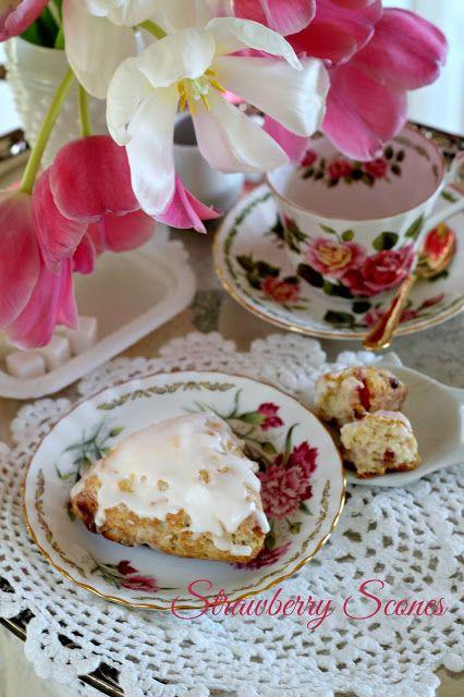 Dried Fruit Strawberry Scones | Grateful Prayer | Thankful Heart