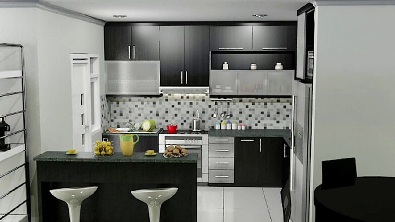 Desain Dapur Kecil Cantik Modern Kitchen Bar Kitchen Bar Design
