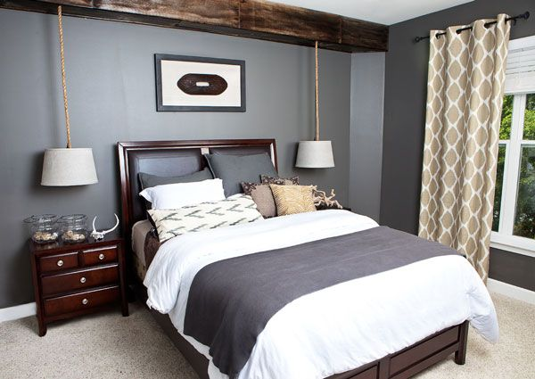 Masculine Bedroom Colors Delectable Love The Colors In This Roomthose Bedroom Lights Would Be Great Inspiration Design