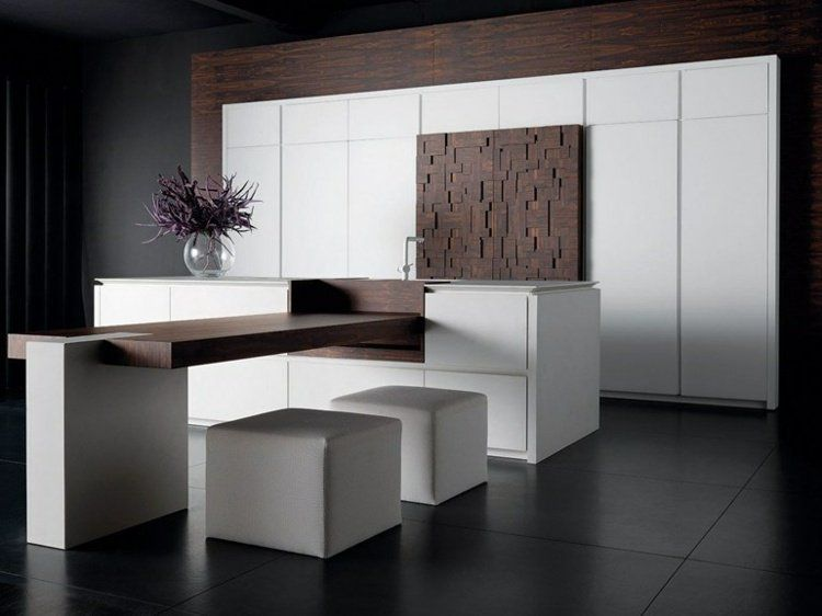 cuisine design italienne signée Toncelli - placards en bois blanc ...