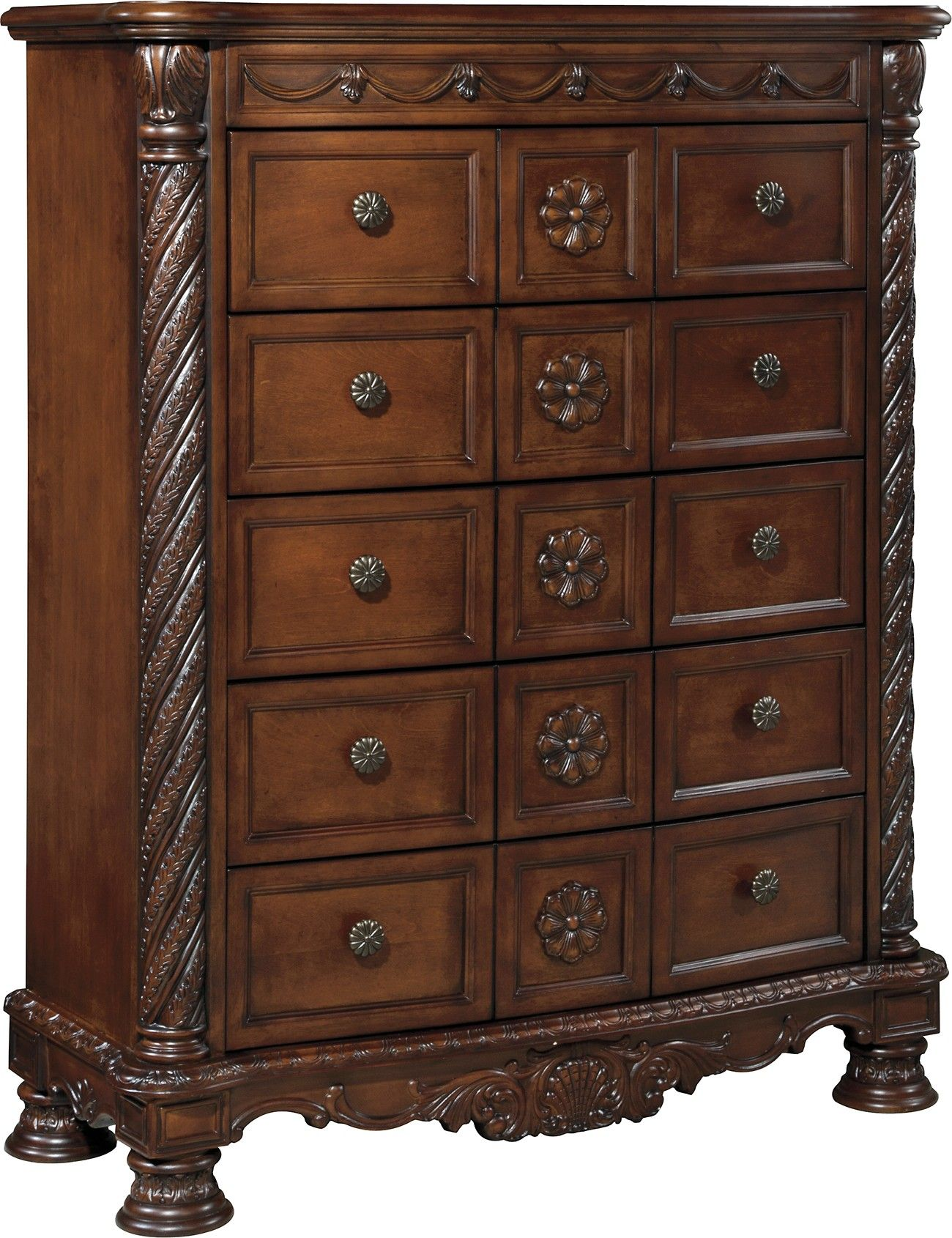 Ashley North Shore B553 46 Millennium Dark Brown Chest With its