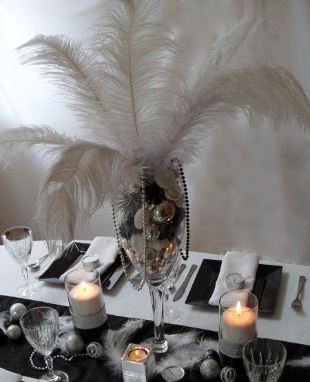 Black and silver centrepiece AYSHAAAAA, this is good. its ...