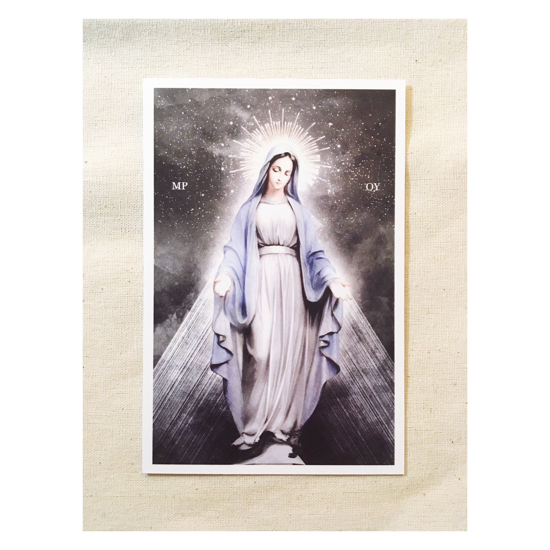 Ave Maria Hail Mary Prayer Card