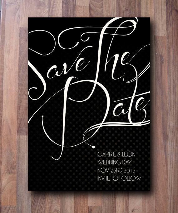 Save the Dates Black Tie