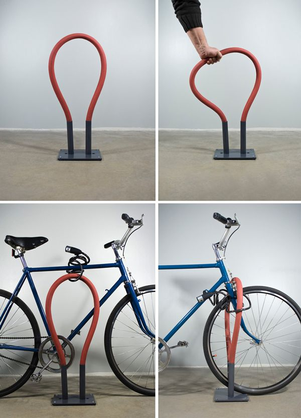 Bendable Bike Rack Design Squish Blog Bicicletta In