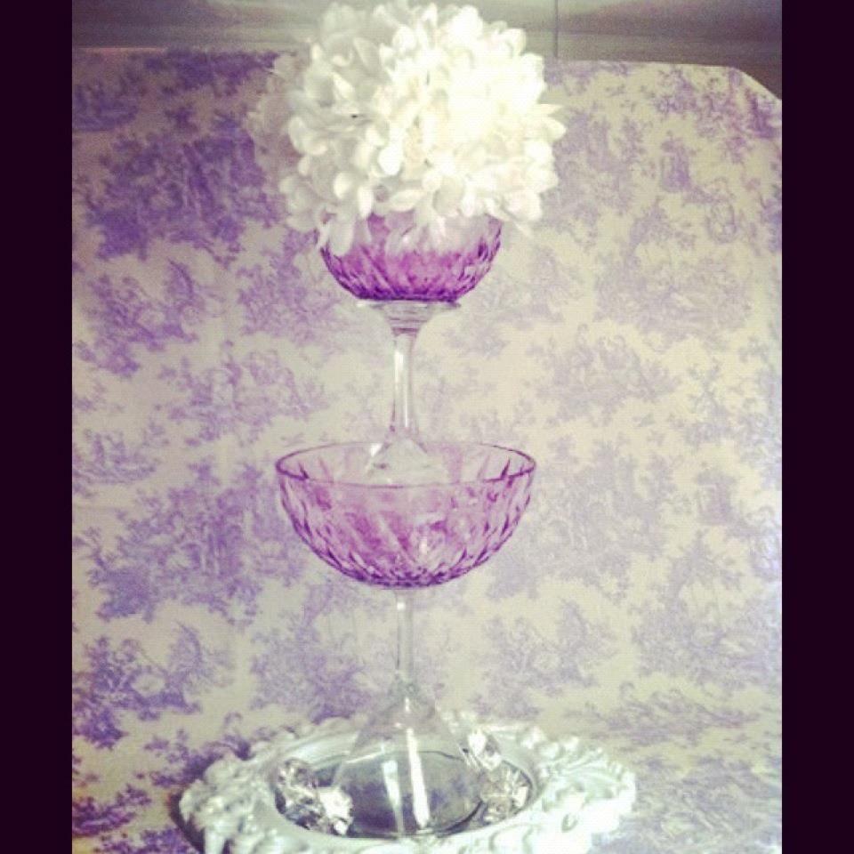 Lilac wedding decoration ideas  cool idea but i would do in black  My Wedding Ideas  Pinterest