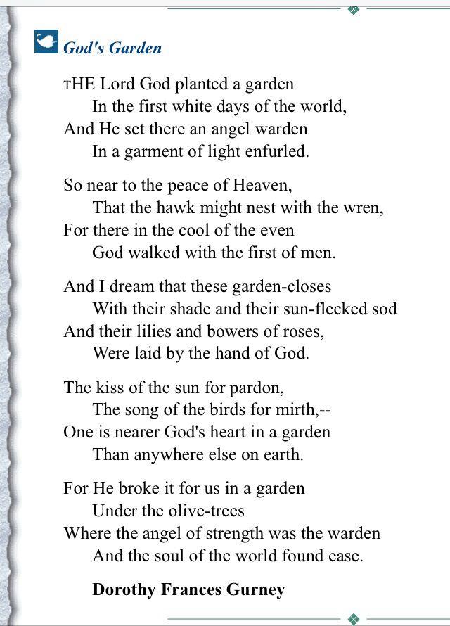 God S Garden Dorothy Frances Gurney Garden Quotes Printable
