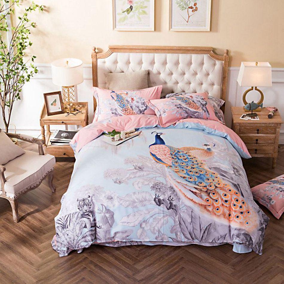 Delicieux Lengkapi Kamar Tidur Anda Dengan Bedcover Import Motif Burung Merak Yang  Sangat Anggun Ini. Bahan