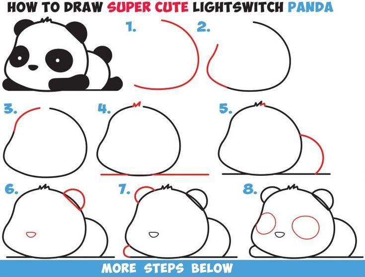 Photo of Wie zeichnet man einen niedlichen Kawaii Panda Bären, der einfach Schritt für Schritt zeichnet … – Architektur und Kunst