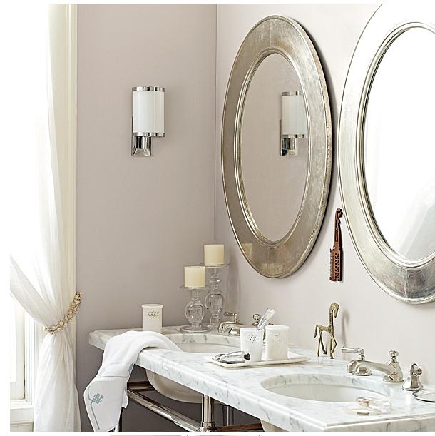 Silver Framed Oval Bathroom Mirrors