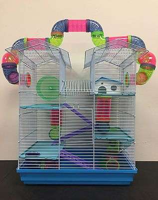 Large Twin Towner Hamster Habitat Rodent Gerbil Mice Rat Cage Cross Tube Tunnel Hamster Habitat Syrian Hamster Gerbil