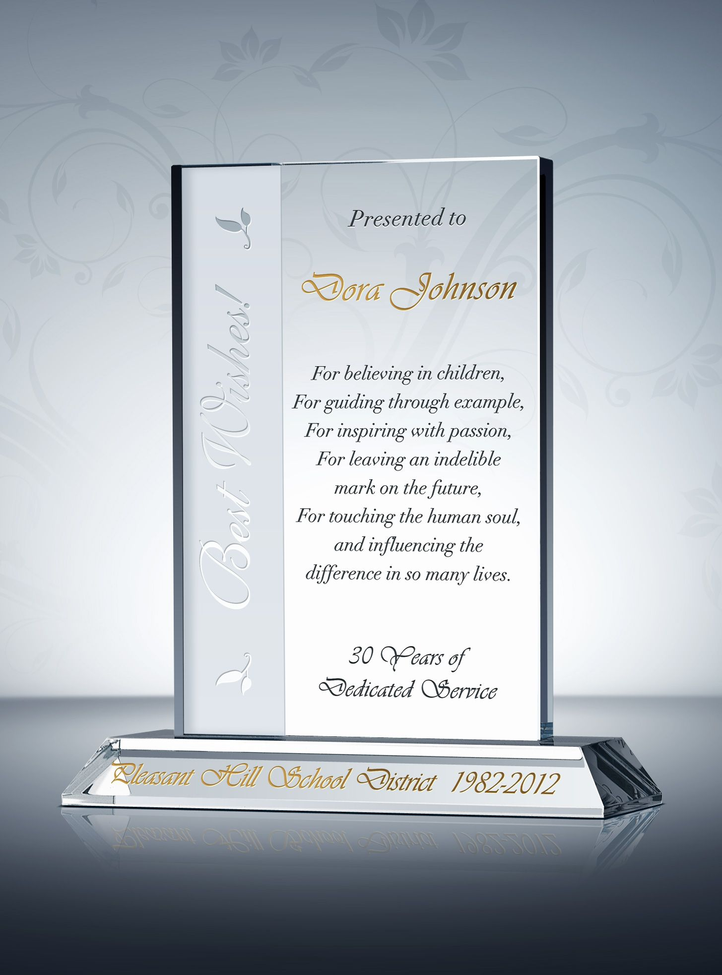Sample Wording For Principal Retirement Plaque