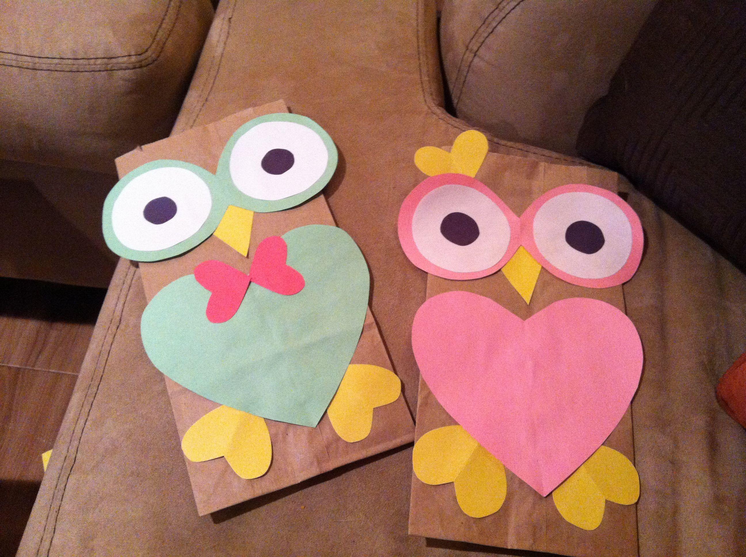 Owl Valentines Bags