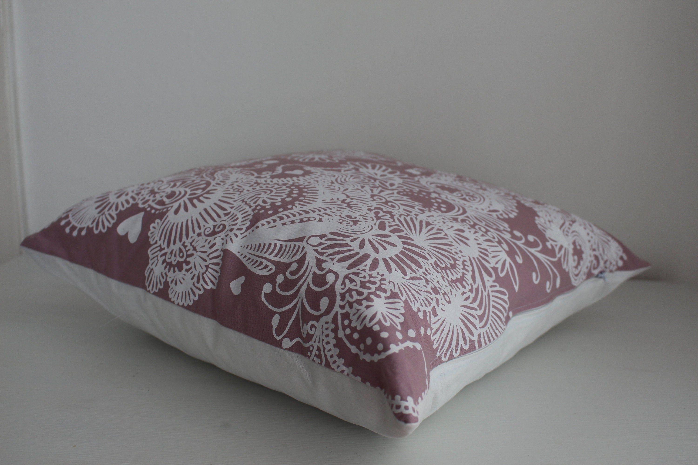 Kissen Ca 50x50 Rosa Weiß Boho Geblümt Kissenhülle Etsy Bett Kissen Kissenhüllen Sofakissen