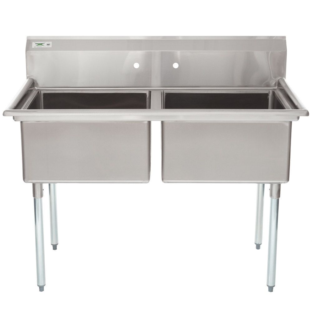 Regency 44 16 Gauge Stainless Steel One Compartment Commercial Sink With Galvanized Steel Legs And 1 Drainboard 17 X 23 X 12 Bowl In 2020 Stainless Sink Sink Commercial Sink