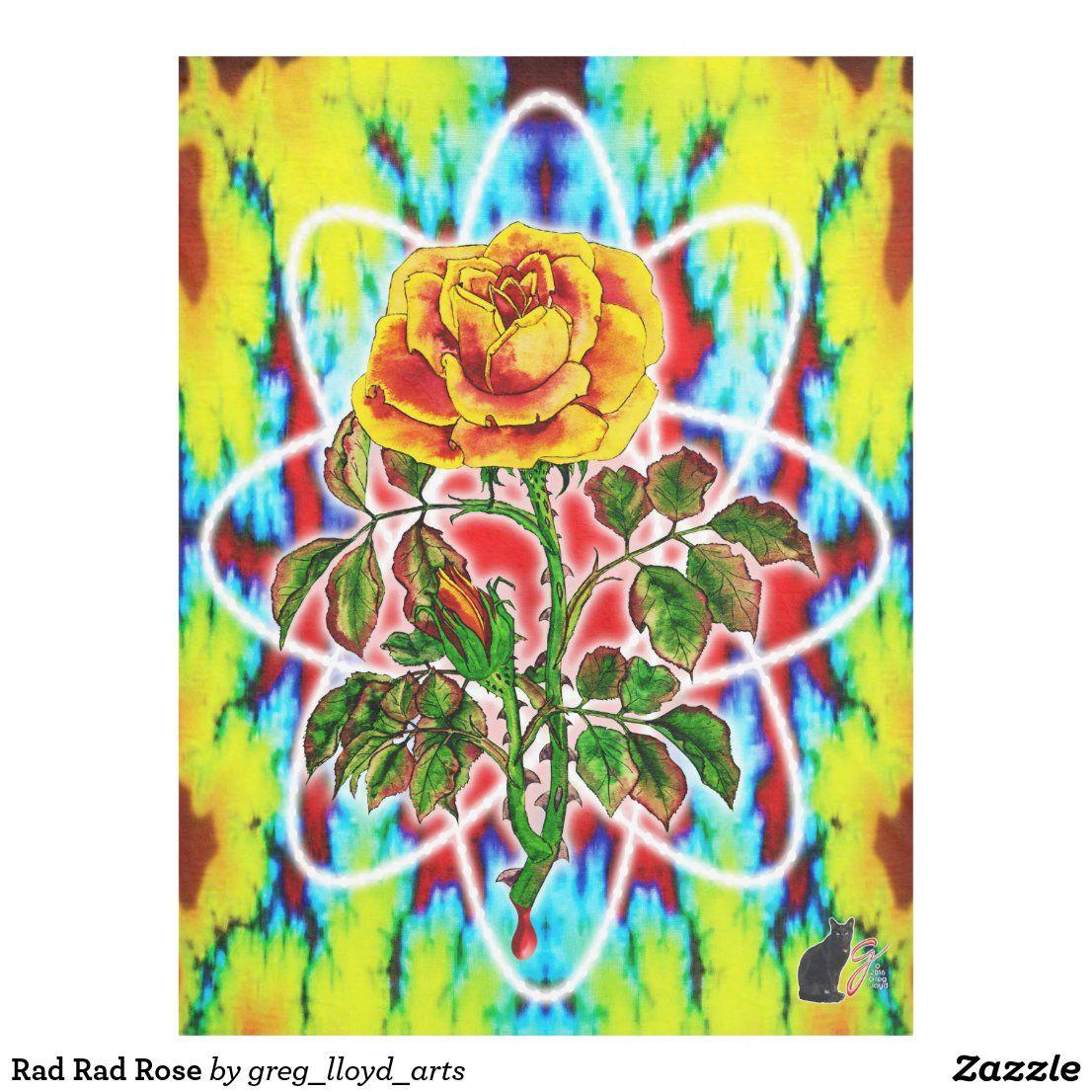 Rad Rad Rose Fleece Blanket Zazzle Com Rad Rose Fleece Blanket Rose