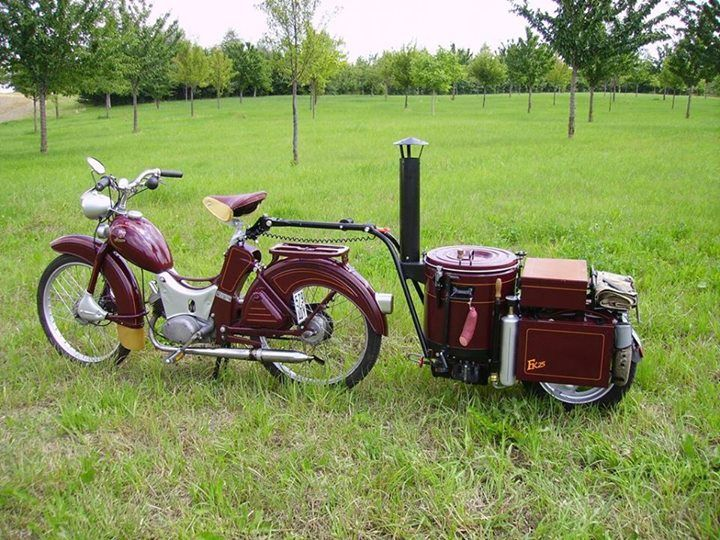 simson sr2 moped built in 1959 with field kitchen fk25. Black Bedroom Furniture Sets. Home Design Ideas