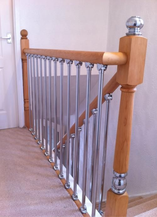 Best Axxys Chrome Landing Refurbishment Kit 2400Mm Pine Axxys Landing Kits Handrails Base Rail And 400 x 300